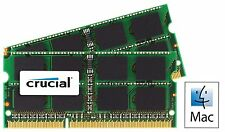 16GB kit (8GB x 2) Crucial DDR3 PC3L-12800 NON-ECC 1.35V CL11 Laptop RAM for MAC