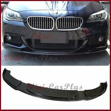 HM Type Carbon Fiber Add Front Lip For 11-15 BMW F10 528i 535i 4D M Sport Bumper