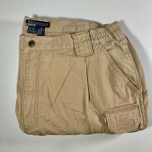 Men's 5.11 Tactical Series Trousers Cotton Pants Style 74251 Khaki Size UK 38