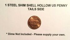 1 STEEL SHIM SHELL US PENNY TAIL Dime Magic Trick Hollow Coin Magnetic Vanishing