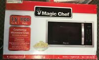 Magic Chef 1.6 cu. ft. Countertop Microwave in Stainless steel with Gray Cavity