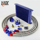 Universal Engine Transmission Oil Cooler 15 Row An-10anfilter Relocation Kit Bl