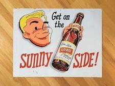 "Original Vintage 27"" Sunshine Brewing Co. Tin Beer Advertising Sign Reading Pa."