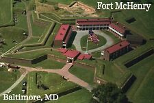 Fort McHenry Aerial Baltimore Maryland War of 1812 Military History MD, Postcard