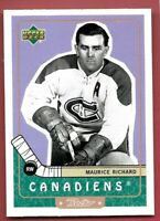 1999-00 UD UPPER DECK RETRO CANADIENS MAURICE RICHARD #84 HOCKEY CARD
