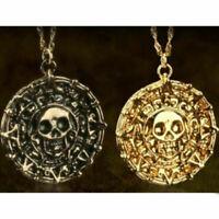Pirati dei Caraibi Azteco moneta Medaglione Teschio Ciondolo Fascino Collane
