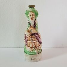 VTG Old Smugglers Brand Whiskey Bottle Figural Pottery Bootlegger Pete