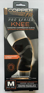 """COPPER FIT Pro Series KNEE SLEEVE Compression Uni-Sex Size Medium 15.5 -16.5"""" In"""