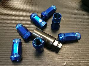 1320 Performance blue Chrome 14x1.5 Steel extended lug nuts m14 x 1.5 20 pcs