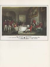 """1974 Vintage HUNTING """"MELTON BREAKFAST"""" AT NEW CLUB COLOR Art Print Lithograph"""