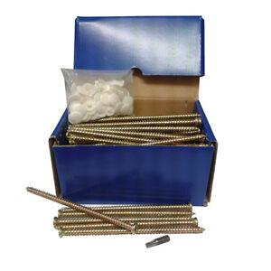 Pack of 20 7.5 x 102 Concrete Frame Screws Direct Masonary Frame Fixing - spax