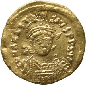 DIONYSOS Anastasius AV-Solidus Constantinopel Victoria  #MF 1111