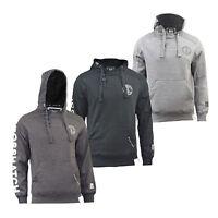 Mens Hoodies By Crosshatch Pullover, Upper Button Sweatshirt, Jumper M to XXL