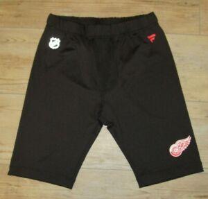 Fanatics Authentic Pro Detroit Red Wings On Ice Jock Shorts Black size Men's XL