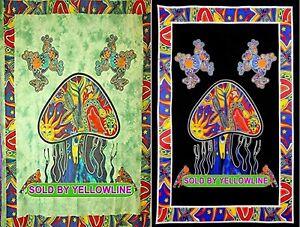 2 piece Mushroom Tapestry Bohomen Indian Wall Hanging Wholesale (77cmX102cm)GB-3