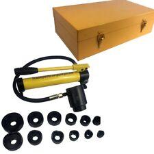 Blechlocher hydraulisch Set Rund Vierkant Knacker mit Handhydraulik 00242
