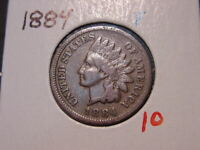 1884 INDIAN HEAD CENT F NICE BETTER DATE COIN COMBINED SHIPPING