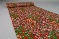 19m 60er Vintage Stoff Gardine Stoffballen Meterware Dekostoff Fabric 60s NOS