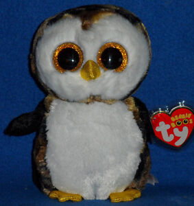 TY BEANIE BOOS - OWLIVER the OWL - MINT with MINT TAGS