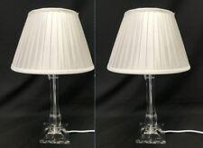 46 cm Table Lamp -  White with Acrylic Base - Large - Pair of 2
