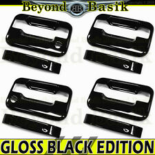 2004-2014 Ford F150 4dr Crew Cab GLOSS BLACK Door Handle Covers w/psk w/o keypad