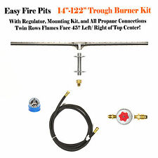 """TB50CK: 50"""" TROUGH BURNER COMPLETE BASIC FIRE TABLE/ WALL KIT"""