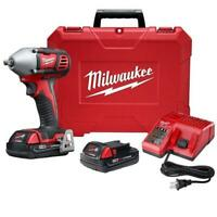 Milwaukee 2658-22CT M18 18V 3/8-Inch Impact Wrench w/ Batteries
