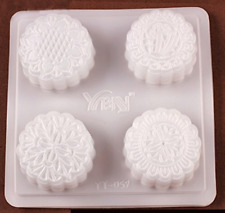 Plastic Mooncake Jelly Pudding Chocolate Soap Mold Floral Patterns Large