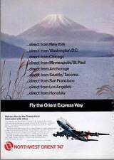 1972 Northwest Orient Airlines 747-NW Express- Orient Express PRINT AD