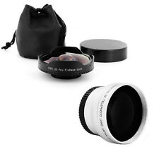 37mm 0.3x Wide Angle Fisheye + 2x Tele Lens for PANASONIC PV-GS330 GS300,NEW,USA