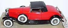 MINIATURE SOLIDO MADE FRANCE DUESENBERG J ROUGE SPIDER 1931 1/43 bis