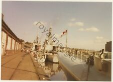 Colour print of Canadian Navy Athabaskan, Assiniboine and Ottawa at Newcastle
