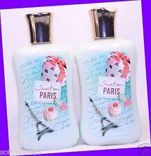2 Bath & Body Works SWEET ON PARIS Body Lotion Shea Butter & Vitamin E & Jojoba