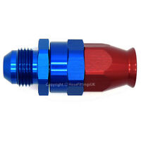 AN-6 MALE FLARE to Straight Swivel PTFE Fuel Oil Braided Hose Fitting