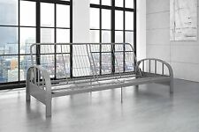 Newaiden Futon Frame Converts Sofa Bed Couch Home Living Room Metal Silver Full