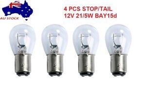 4 Pcs 12Volt 21/5 Watt Bay15d Stop/Tail Auto Globes