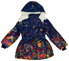 Vêtements bleus avec capuche en polyester pour fille de 2 à 16 ans Hiver