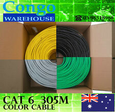 2 x Cat6 305m Multi Color Ethernet LAN Network 10/100/1000Mbps