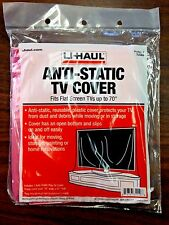 Anti-static tv cover for covering tv's from dust debris moving painting remodel