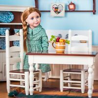 Queens Treasures 18 iNCH Doll KITCHEN TABLE & CHAIRS For American Girl Furniture