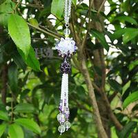 Purple Hanging Suncatcher Cut Crystal Ruyi Ball Prisms Rainbow Feng Shui Pendant