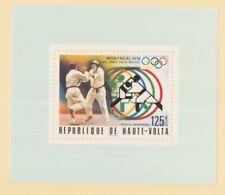 MayfairStamps 1976 Burkina Faso C228 Montreal Summer Olympics Wrestling Souvenir