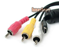 Mini Usb Male To 3 RCA AV Video Audio Cable Adapter For Sony Camera DV Etc.