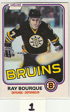 1981-82 O-Pee-Chee #1 Ray Bourque 2nd-year OPC Boston Bruins