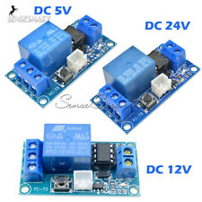 DC 5V 12V 24V 1-Channel Latching Relay Module With Touch Bistable Switch MCU