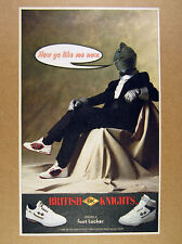 1988 British Knights BK Shoes knight armor helmet tuxedo photo vintage print Ad