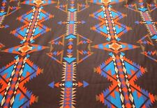 """Southwestern Aztec Print ~ Red/Blue/Turquoise/Blk, 54"""" Wide,100% Cotton Sold BTY"""