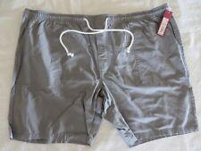 Merona Mens Pull On Shorts Elastic Waist Gray XXL New!  #7364