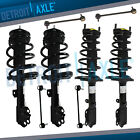 For 2007 2008 2009-2011 Toyota Camry Front Rear Struts w/Spring + Sway Bar Links
