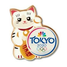Tokyo 2020 Nbc Olympic Media Pin / Japanese Lucky Cat